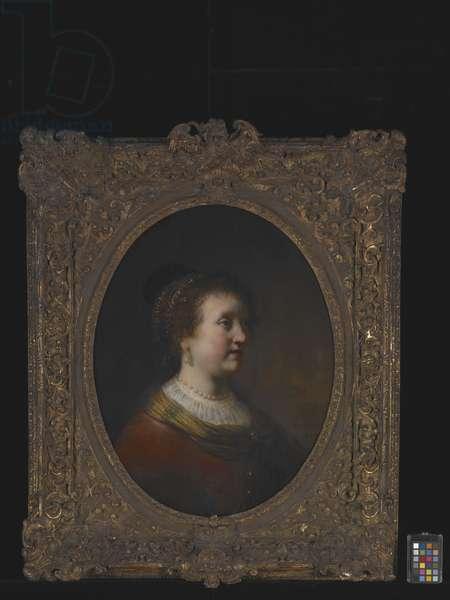 Portrait Of A Woman (oil on wood)