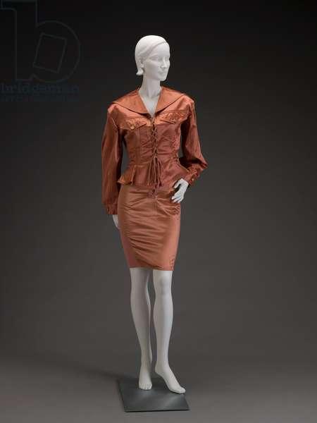 Suit, 1991 (cotton, spandex, metal, rayon, & rubber)
