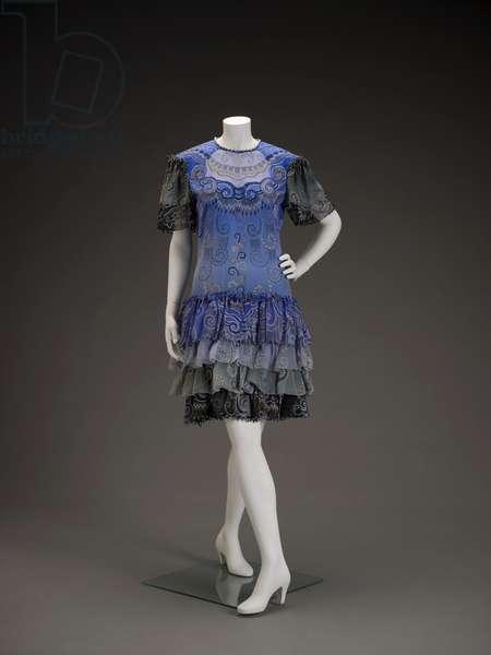 Dress, 1990 (silk chiffon, faux pearls, crystal beads & rhinestones)