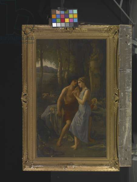 Daphnis and Chloe, 1870 (oil on canvas)