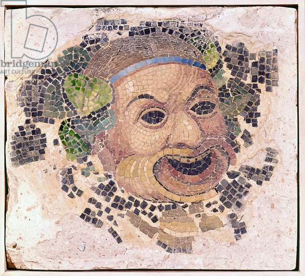 Comic Mask (Tesserae In Plaster) Fragment Of A Wall Decoration (photo)