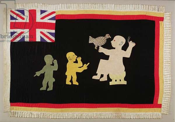 Flag for Asafo military company, Fante tribe, c.1900-1950 (cotton)