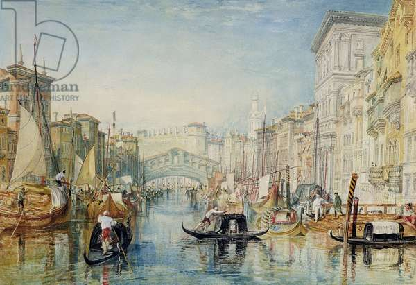 Venice: The Rialto, 1820-21 (w/c on off-white paper)