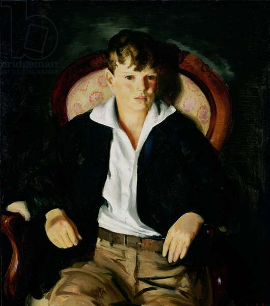 Portrait of a Boy, 1921 (oil on canvas)