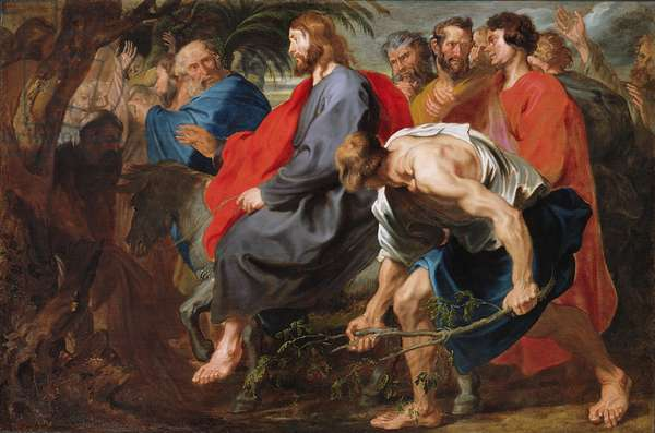 Entry of Christ into Jerusalem, c.1617 (oil on canvas)