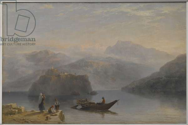 Lago Maggiore (?) c.1860 (oil on canvas)