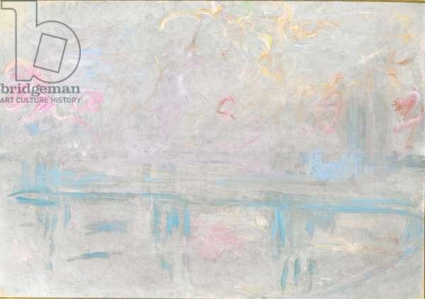 Charing Cross Bridge, c.1900 (oil on canvas)