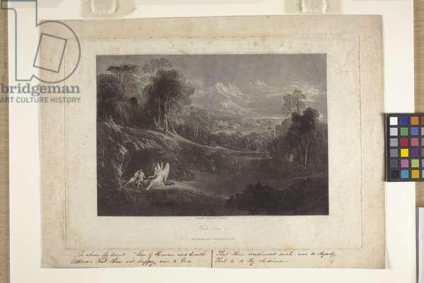 Raphael Conversing With Adam And Eve (mezzotint)