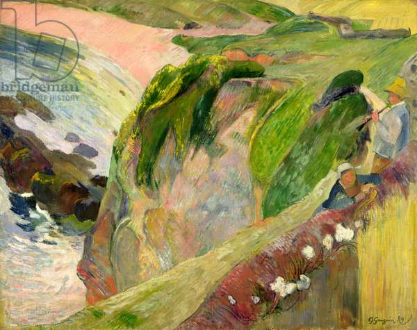 The Flageolet Player on the Cliff, 1889 (oil on canvas)