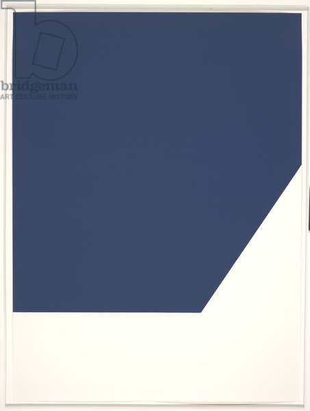The Mallarme Suite (blue), 1992 (litho on Rives BFK paper)