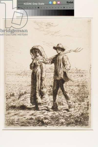 Le Départ Pour Le Travail (Going To Work) (etching)
