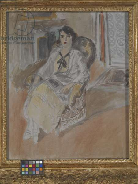 Woman Seated in an Armchair, c.1922 (oil on canvas)