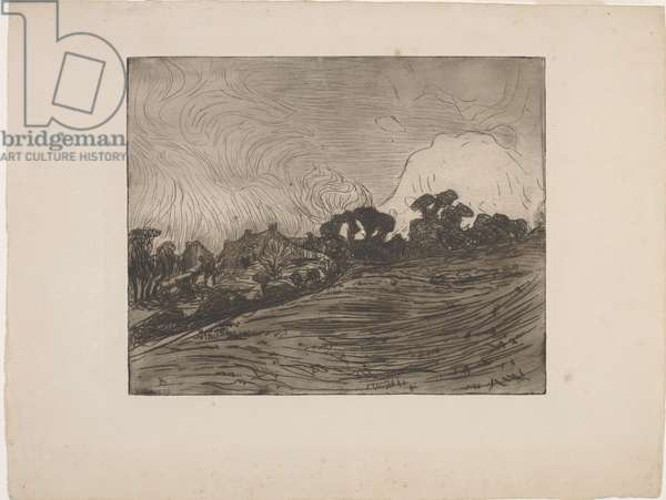 Paysage avec maisons et arbres (Landscape with houses and trees) 1893 (etching & drypoint)