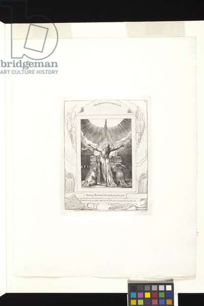 And My Servant Job Shall Pray For You (engraving on india paper chine collé)