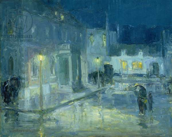Rainy Night, Etaples, 1912 (oil on canvas)