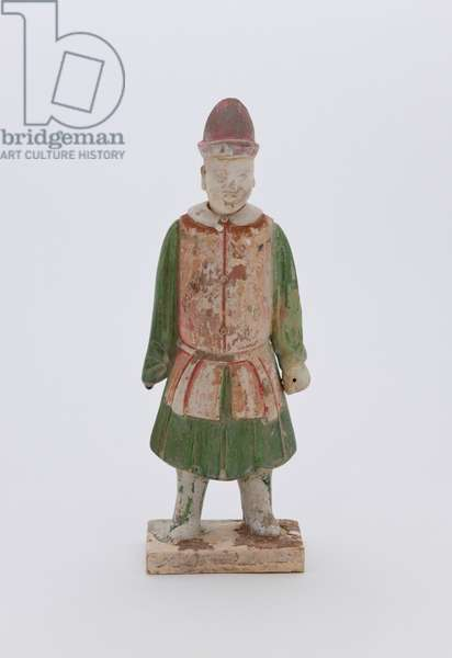 Burial figurine: head and body, 1500s (stoneware with glaze (red hat))