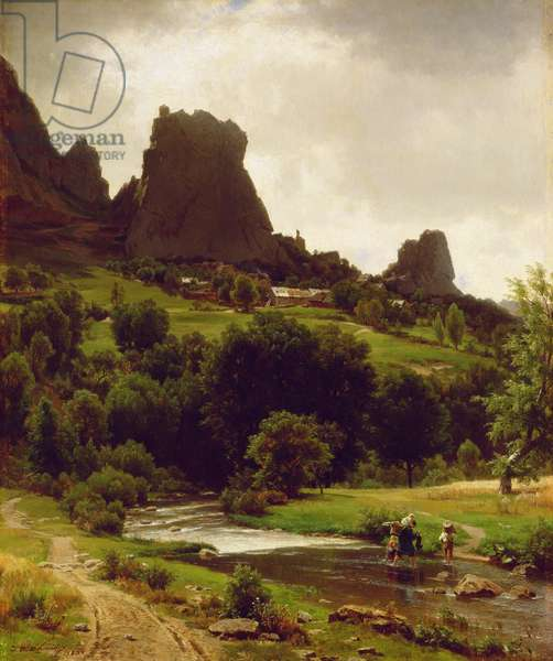Summer Pastorale (View of Kallenfels) 1853 (oil on canvas)
