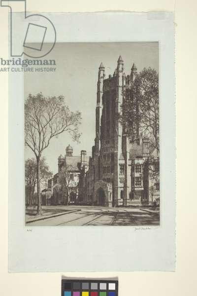 Sheffield Scientific School Tower (etching)