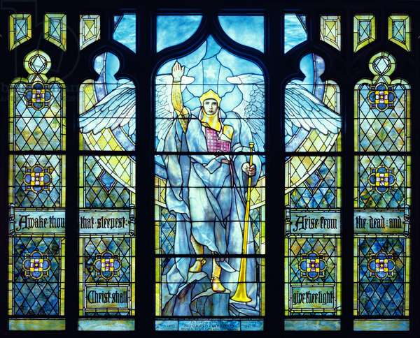 Angel of the Resurrection 1904 (stained glass)