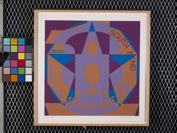 Decade: Autoportrait '78: Star Of Hope (screenprint on white fabriano classico)