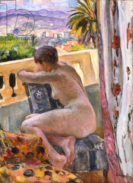 Nude At The Window (oil on canvas)