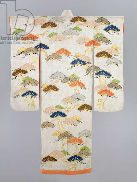 Woman's Kimono, Edo Period (1600-1868) (silk with metallic threads)