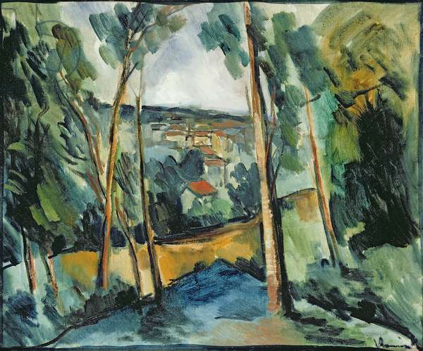 Village in the Valley, c.1913 (oil on canvas)