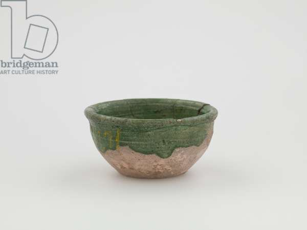 Cup (earthenware, green glaze)