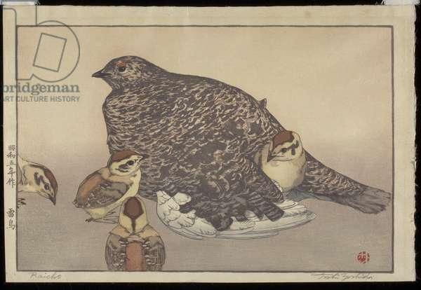 Raicho, 1930 (colour woodblock print)
