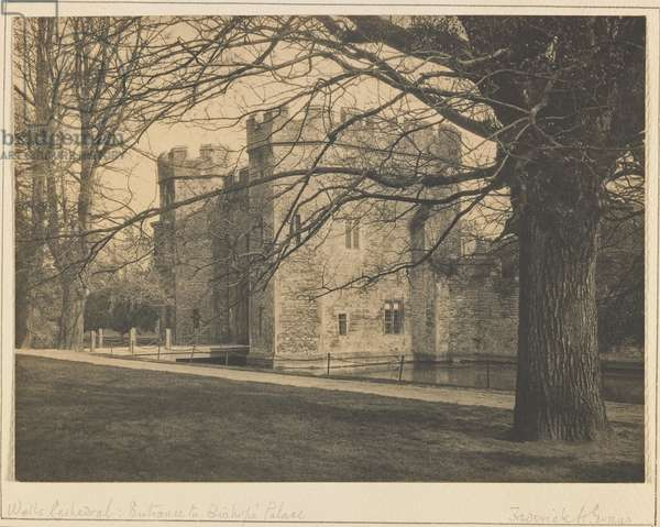 Entrance to the Bishop's Palace, Wells Cathedral, c.1900 (platinum print)