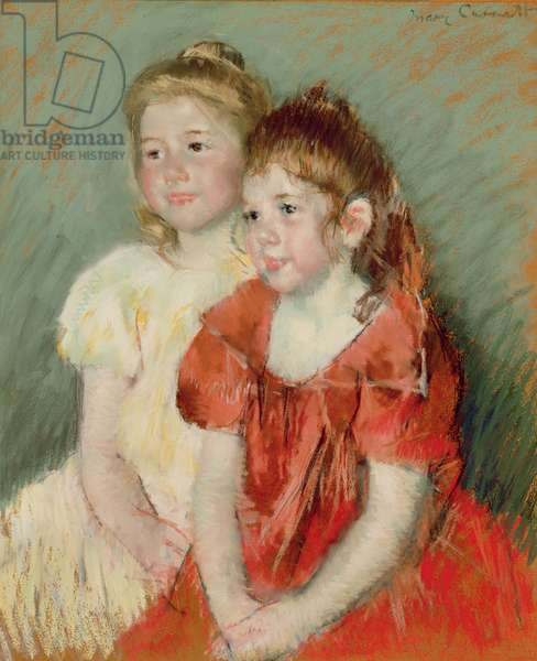 Young Girls, c.1900 (pastel on paper)