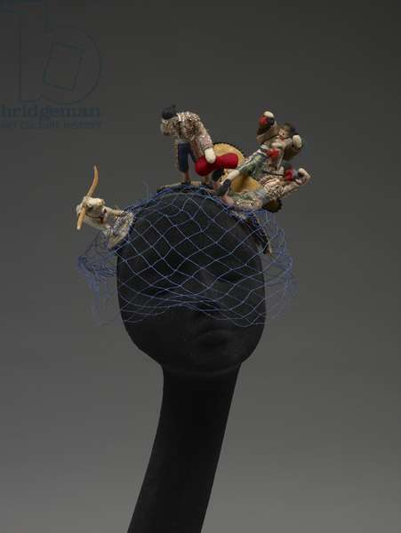 Hat with bullfighters, 1958 (mixed media)