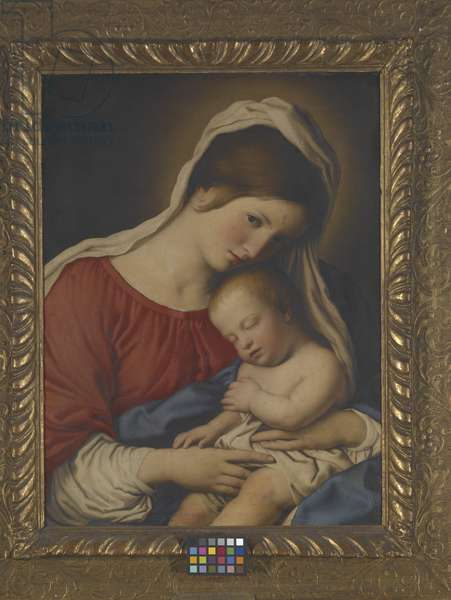 Madonna And Child (oil on canvas)
