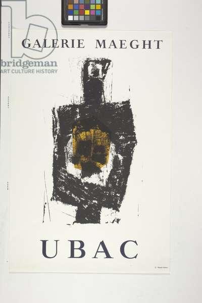 Galerie Maeght, Ubac (colour lithograph)