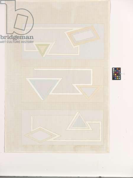 Pastel Stack (screenprint on cream wove paper)