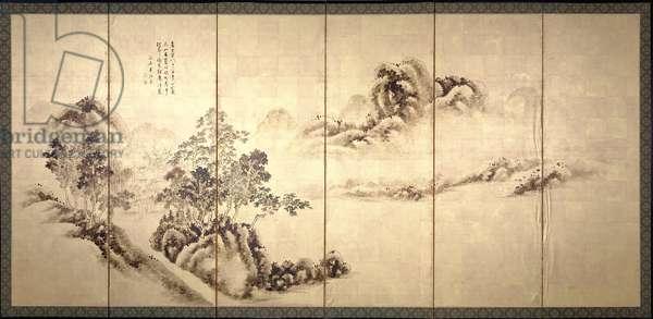 Ikegami Shuho, 1918 (ink & colours on silk)