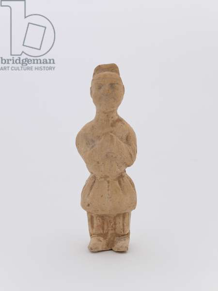 Figure of a dwarf (earthenware with straw glaze)
