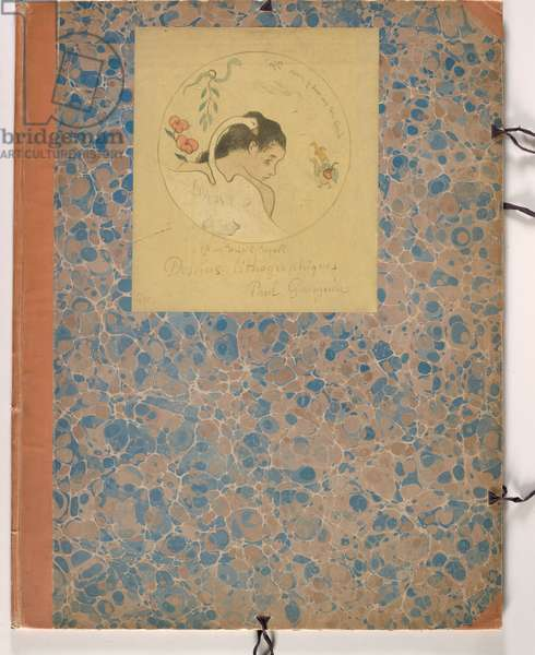 Design for a Plate - Leda, 1889, (Zincograph with watercolor and gouache on canary yellow wove paper, mounted on cardboard folder)