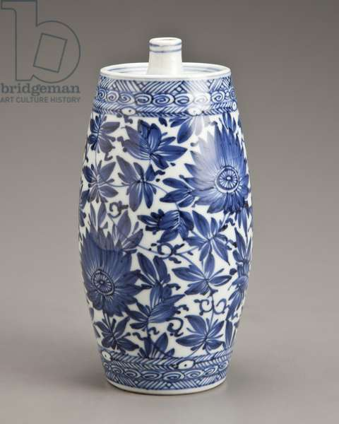 Water dropper, 1662-1722 (porcelain with blue underglaze)