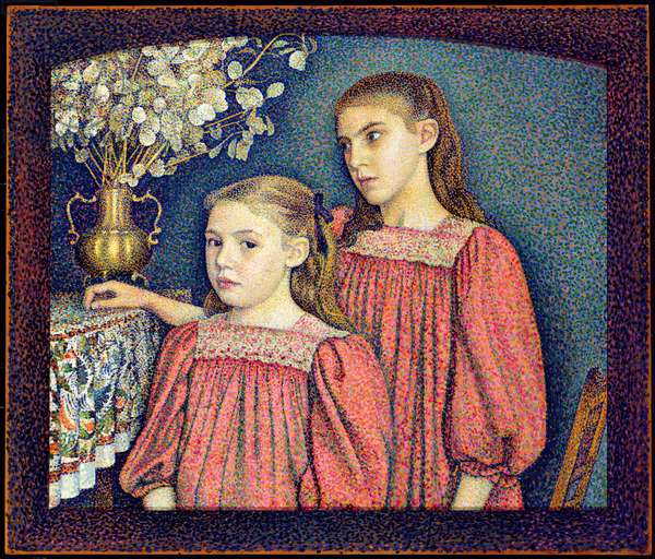 The Two Sisters, The Serruys Sisters, 1894 (oil on canvas)