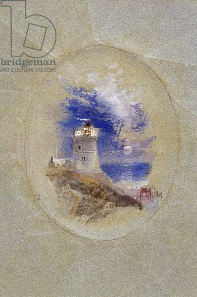 Lowestoffe Lighthouse, c.1827 (gouache on paper)