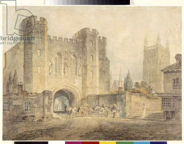 King Edgar'S Gate, Worcester (watercolour over pencil on white paper)