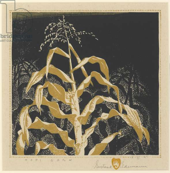 Hopi Corn, c.1938 (colour woodblock print)