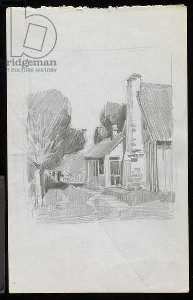 Aunt Molly Lucas' House, Nashville, 1910 (graphite on paper)