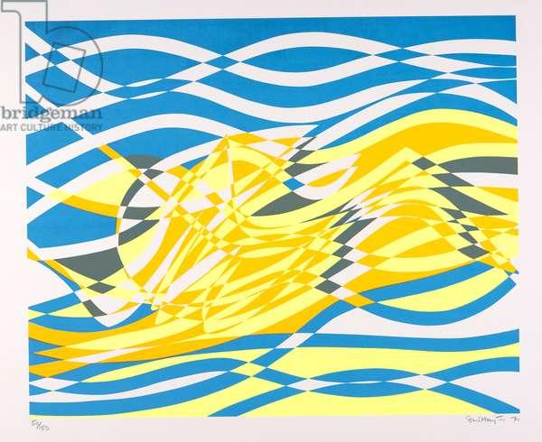 Aquarius - C, 1970 (screenprint)