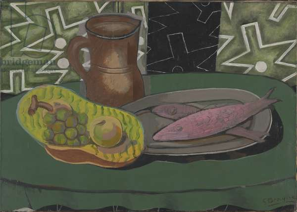 Still Life with Pink Fish, 1937 (oil on canvas)