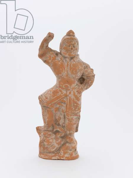 Tomb figure (earthenware with glaze)