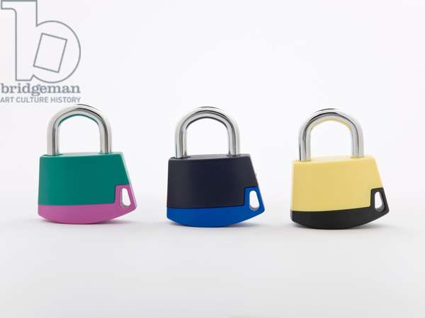 Ava Padlocks, CreaDesign, manufactured by Abloy Oy, 1992 (ABS plastic & steel)