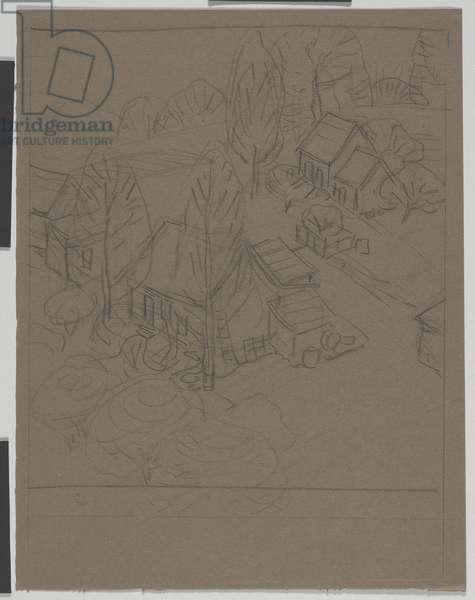 Harden Hollow, c.1916 (graphite on paper)