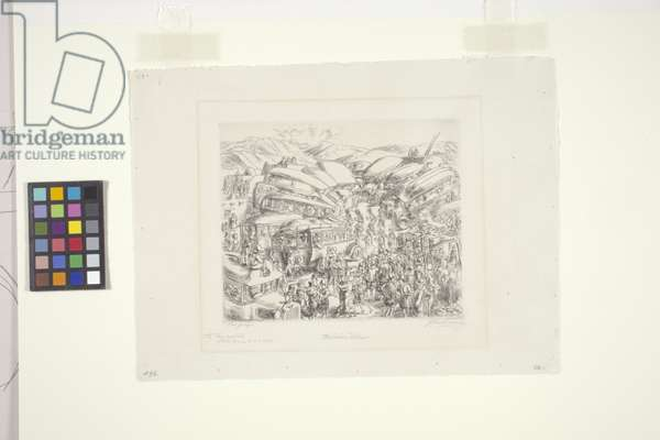The Indian Detour (etching)